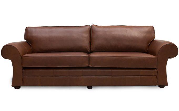 Cavan Scroll Arm Leather Sofas