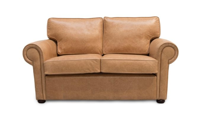 Clare Traditional Leather Sofa Bed