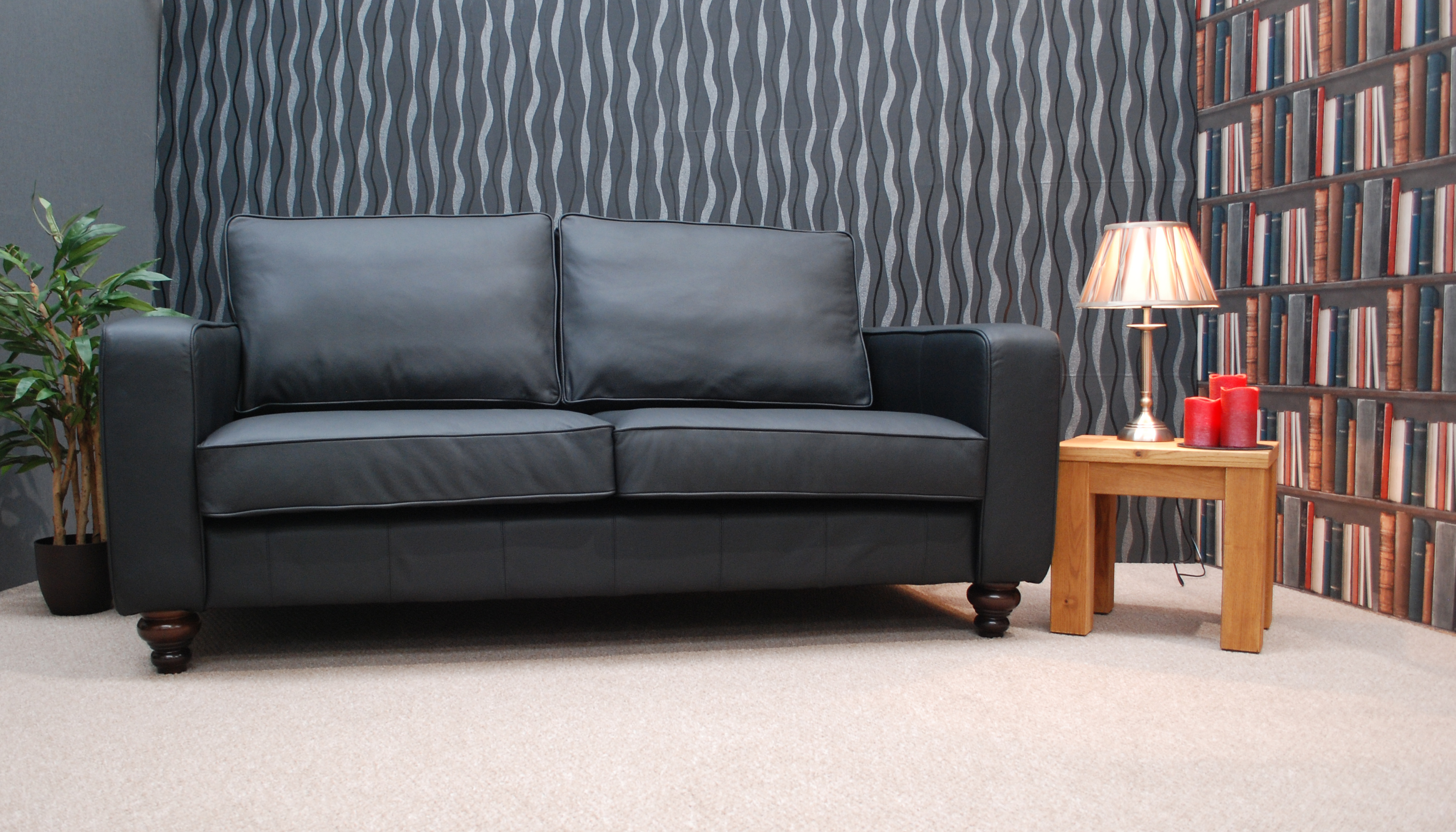 Derry Contemporary Leather Sofas Handmade in Manchester Choice