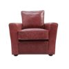 Longford Red Leather Armchair