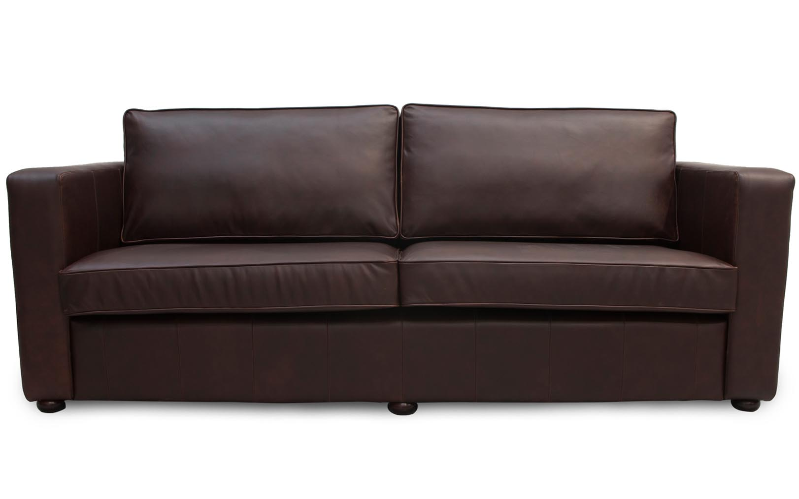 Tipperary Leather Sofa Thin Square Arm Leather Couch